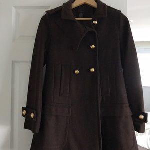 Victoria's Secret Wool Via brand brown pea coat